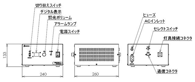 専用コントローラー外形寸法図