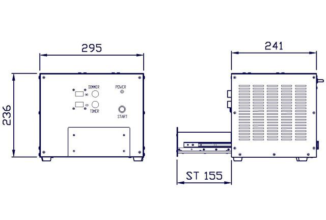 SCA-FUVシリーズ 外観寸法
